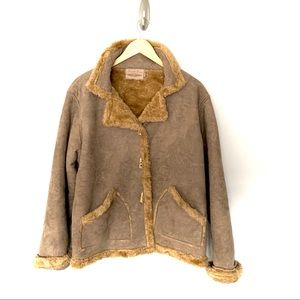 Straight Down Clothing Co Faux Suede Fleece Jacket